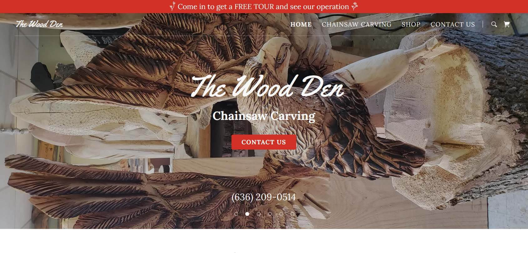 The Wood Den Homepage