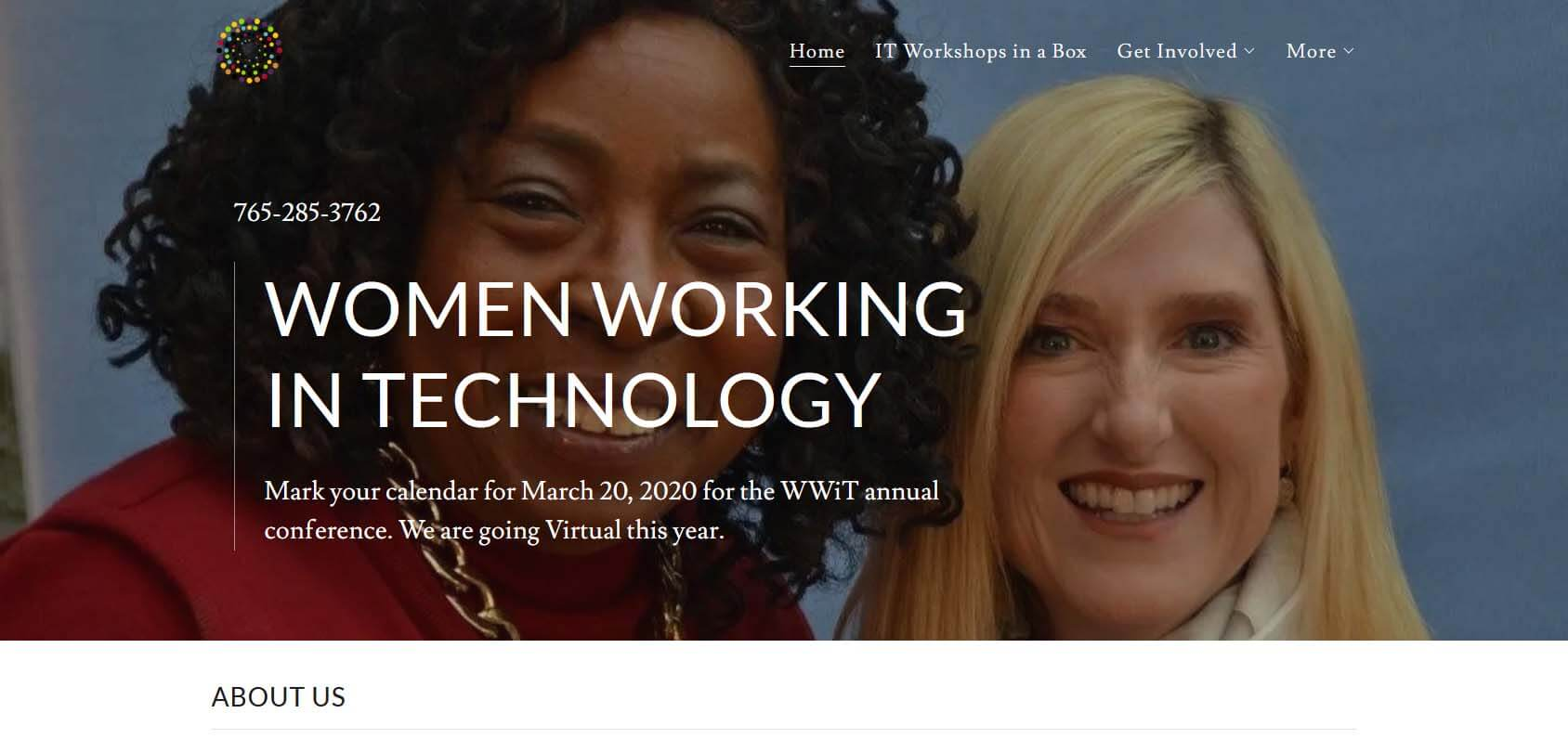 Women Working in Technology Homepage