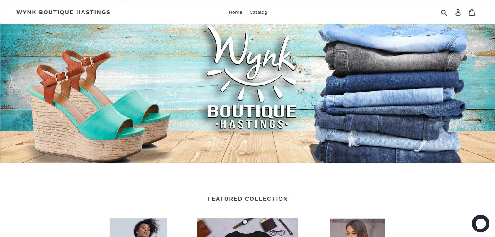 Wynk Boutique Hastings Homepage