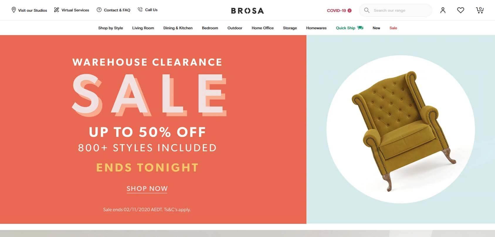Brosa homepage