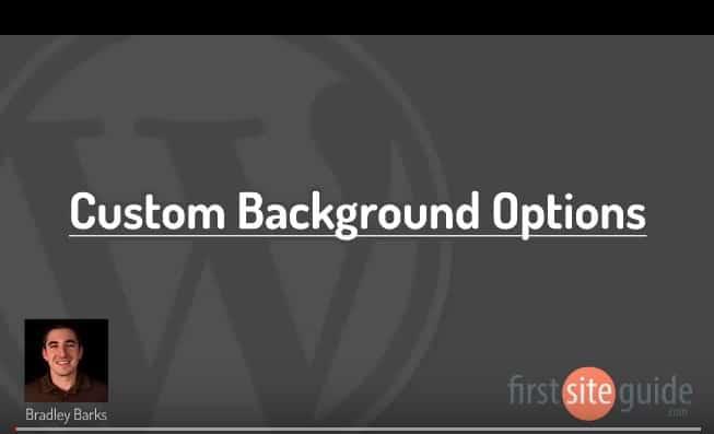 Custom Background Options