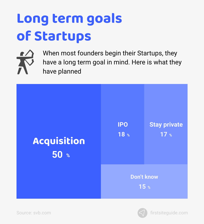 Long term goals of startups