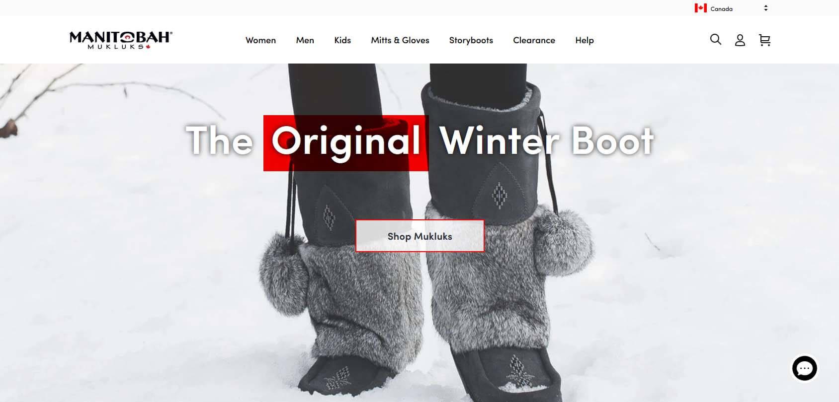 Manitoba Mukluks homepage