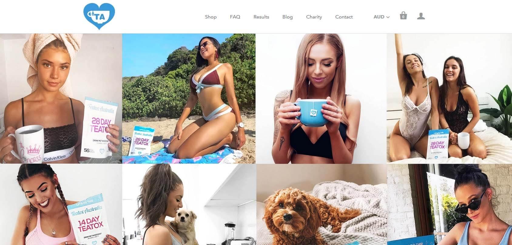 Teatox Australia homepage