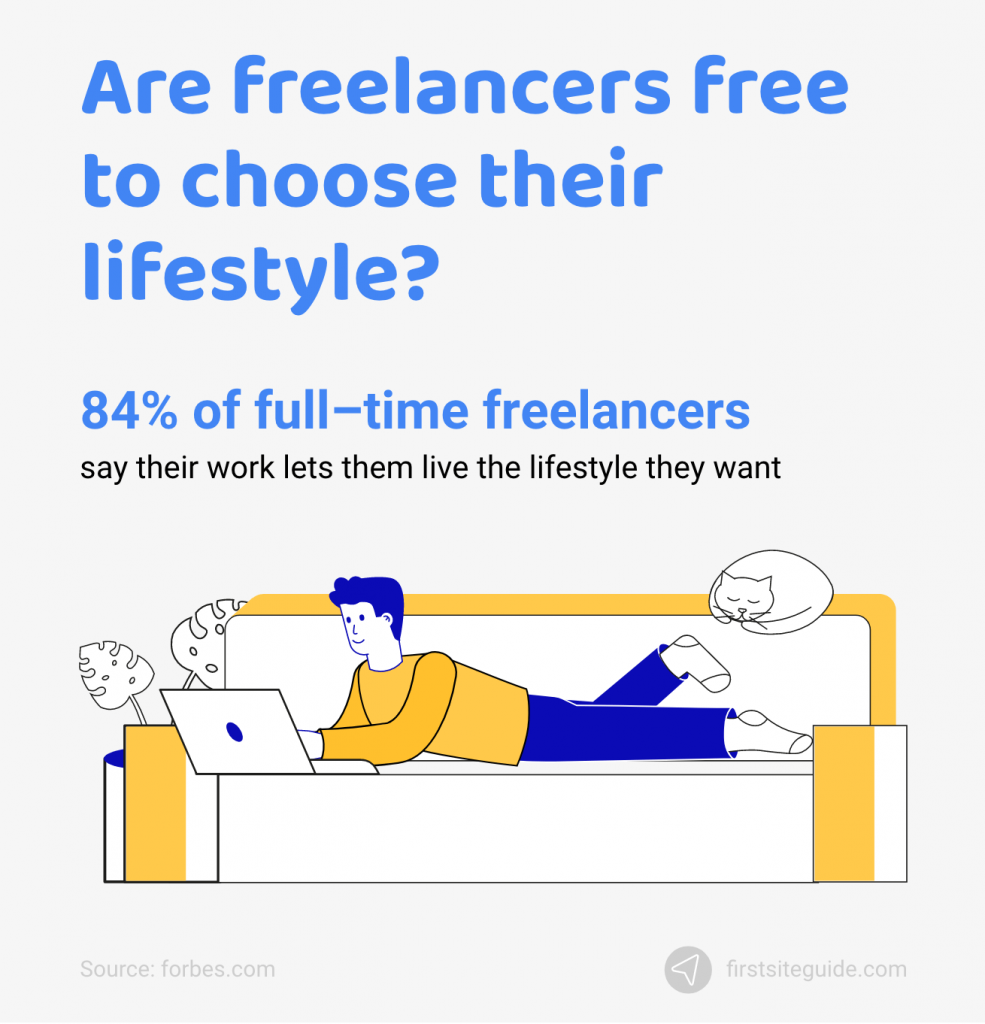 Are freelancers free to choose their lifestyle