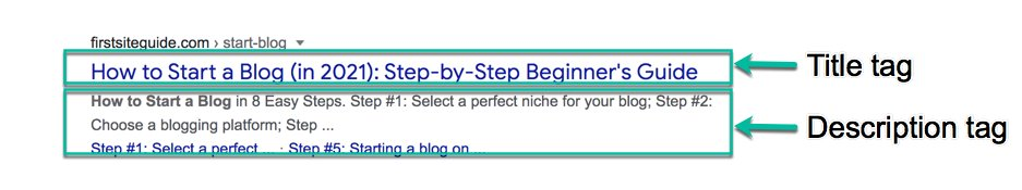 how to start a blog and make money bluehost SEO meta tags