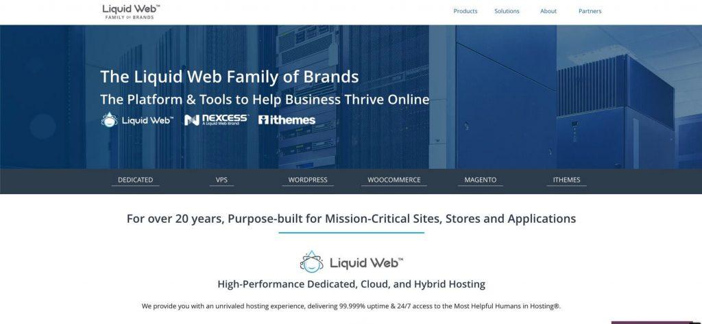 Liquid Web home page