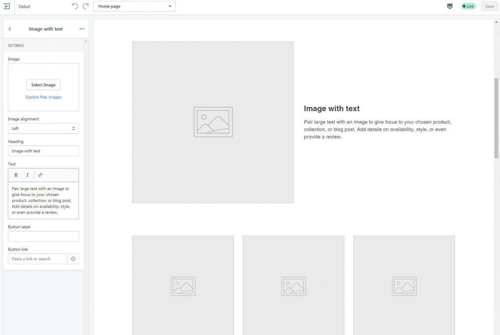 shopify design changes