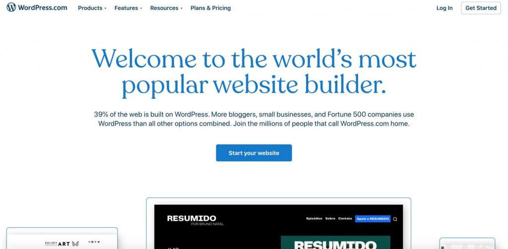 wordpres-com home page