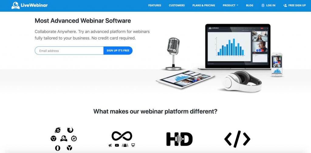 Live Webinar homepage