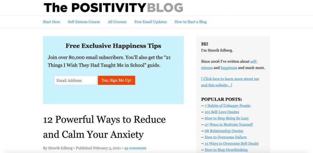 positivity hp