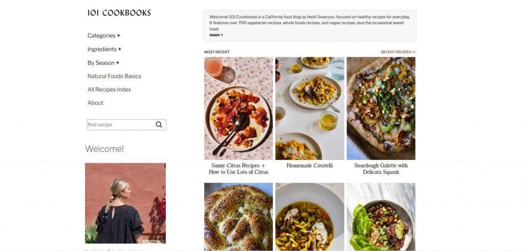 101 Cookbooks Homepage