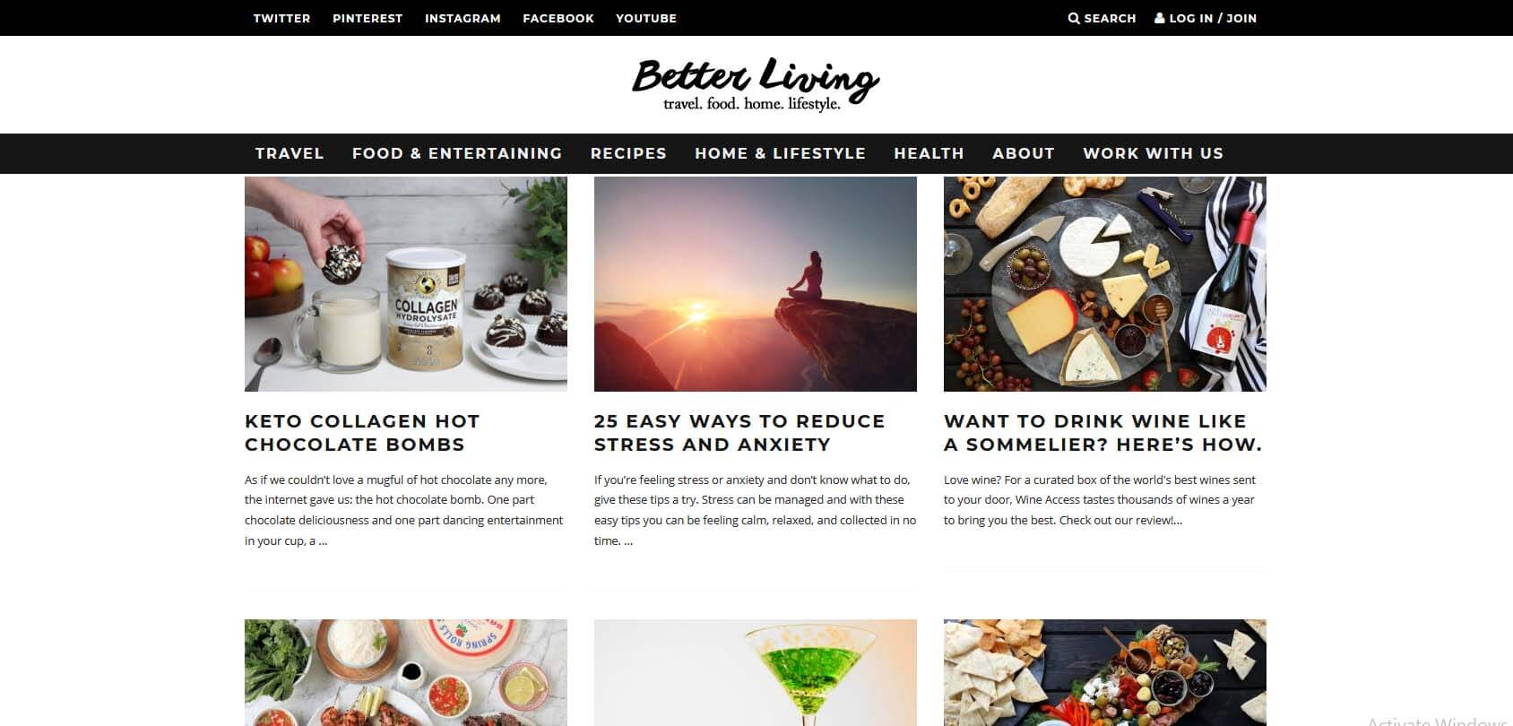 Better Living Homepage