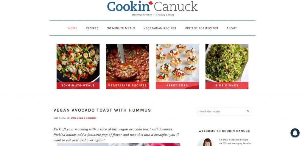 Cookin Canuck Homepage