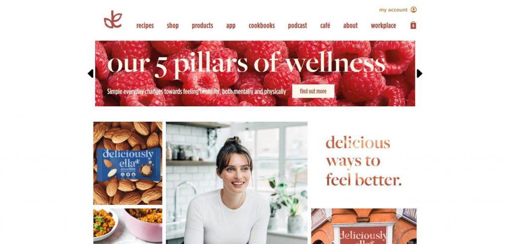 Deliciously Ella Homepage