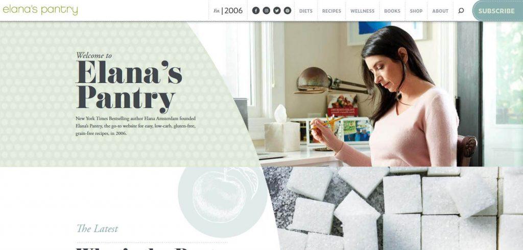 Elanas Pantry Homepage