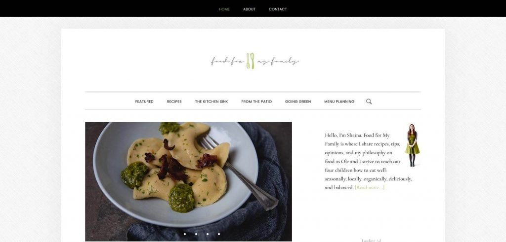 Food for My Family Homepage