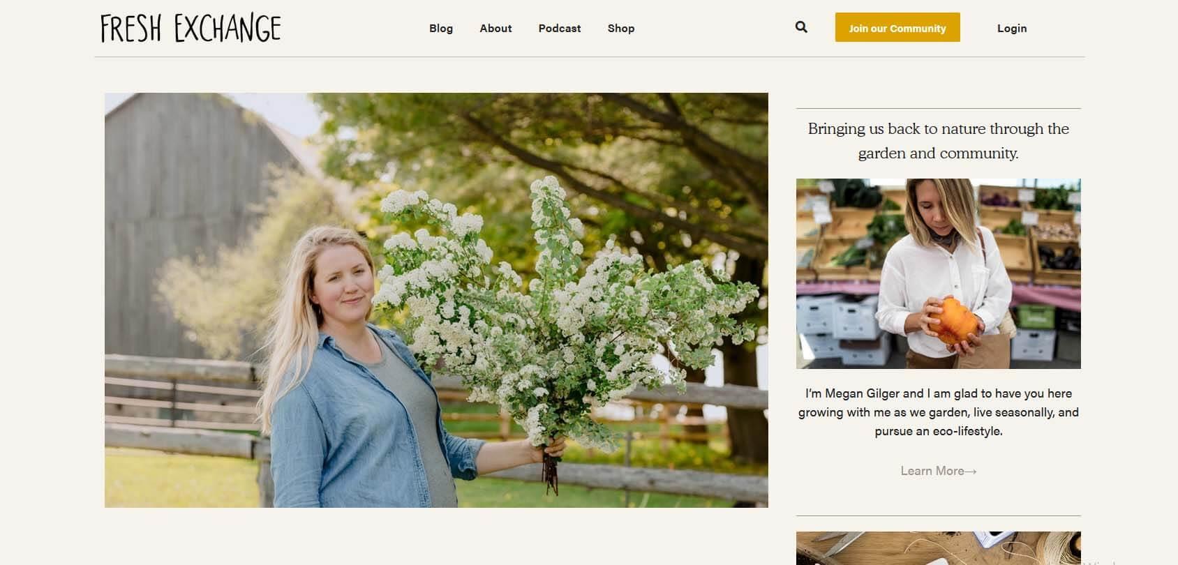 Fresh Exchange Homepage