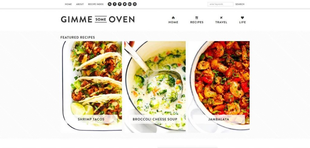Gimme Some Oven Homepage