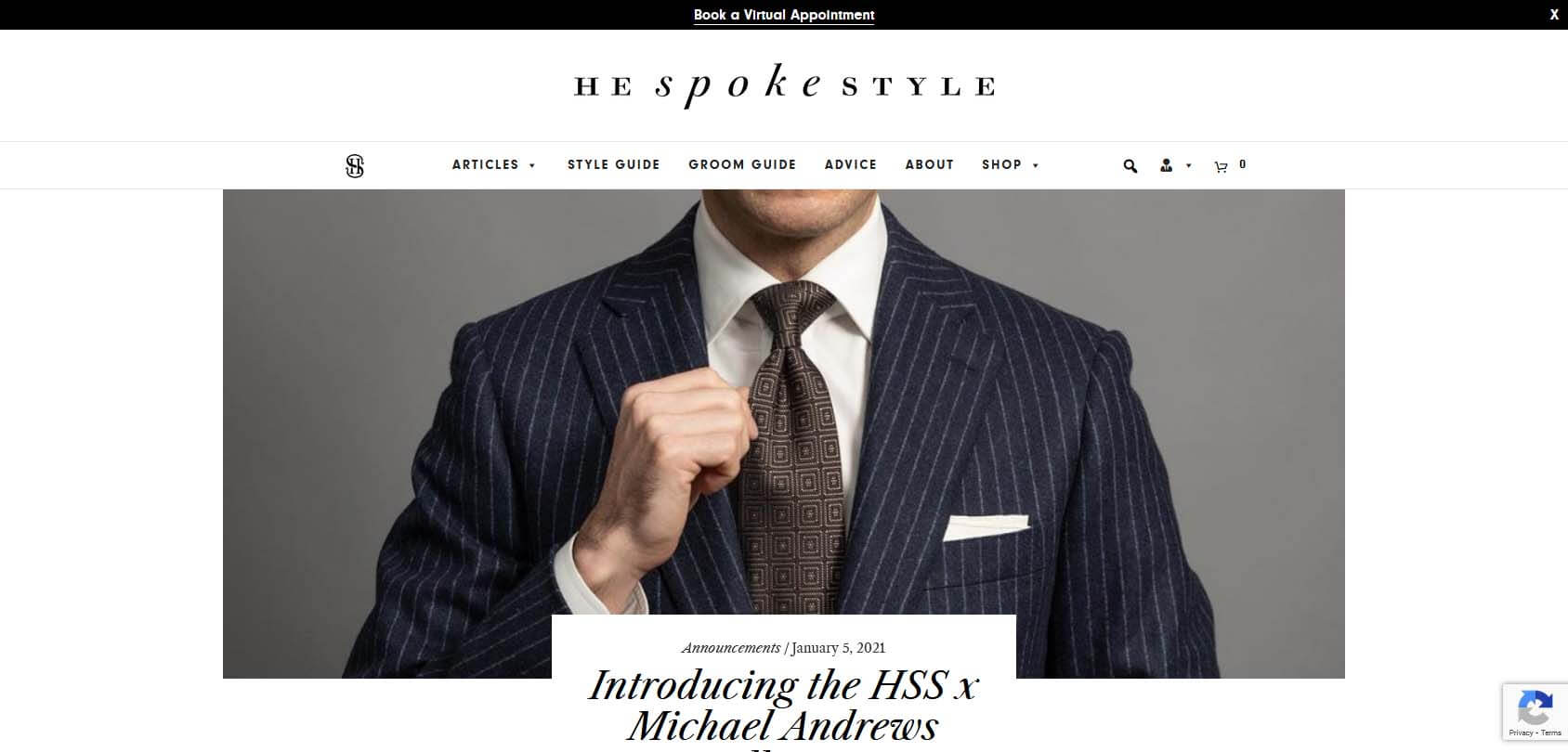 He Spoke Style Homepage