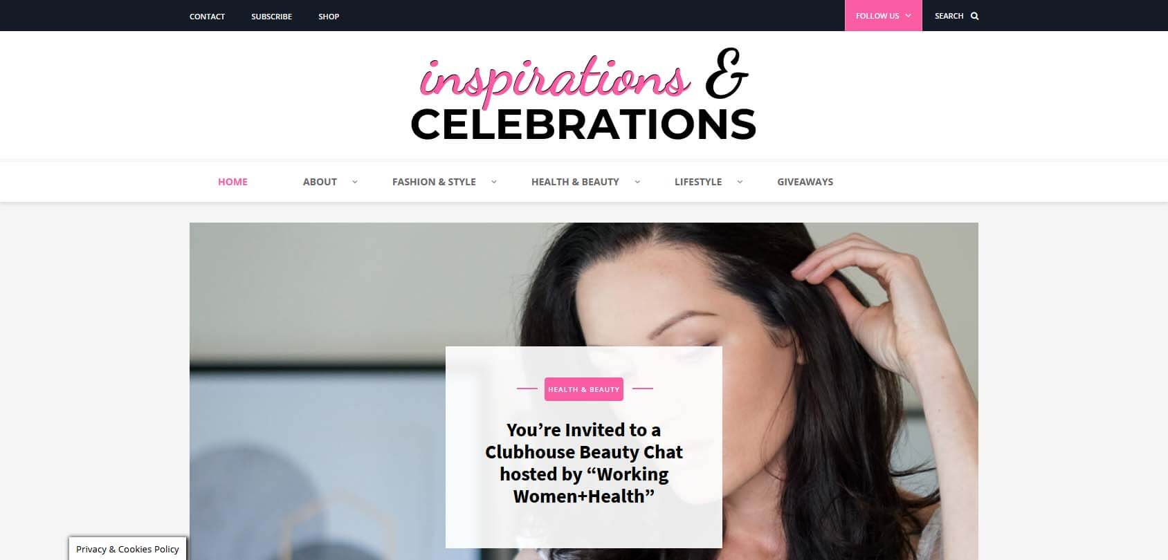 Inspirations and Celebrations Homepage