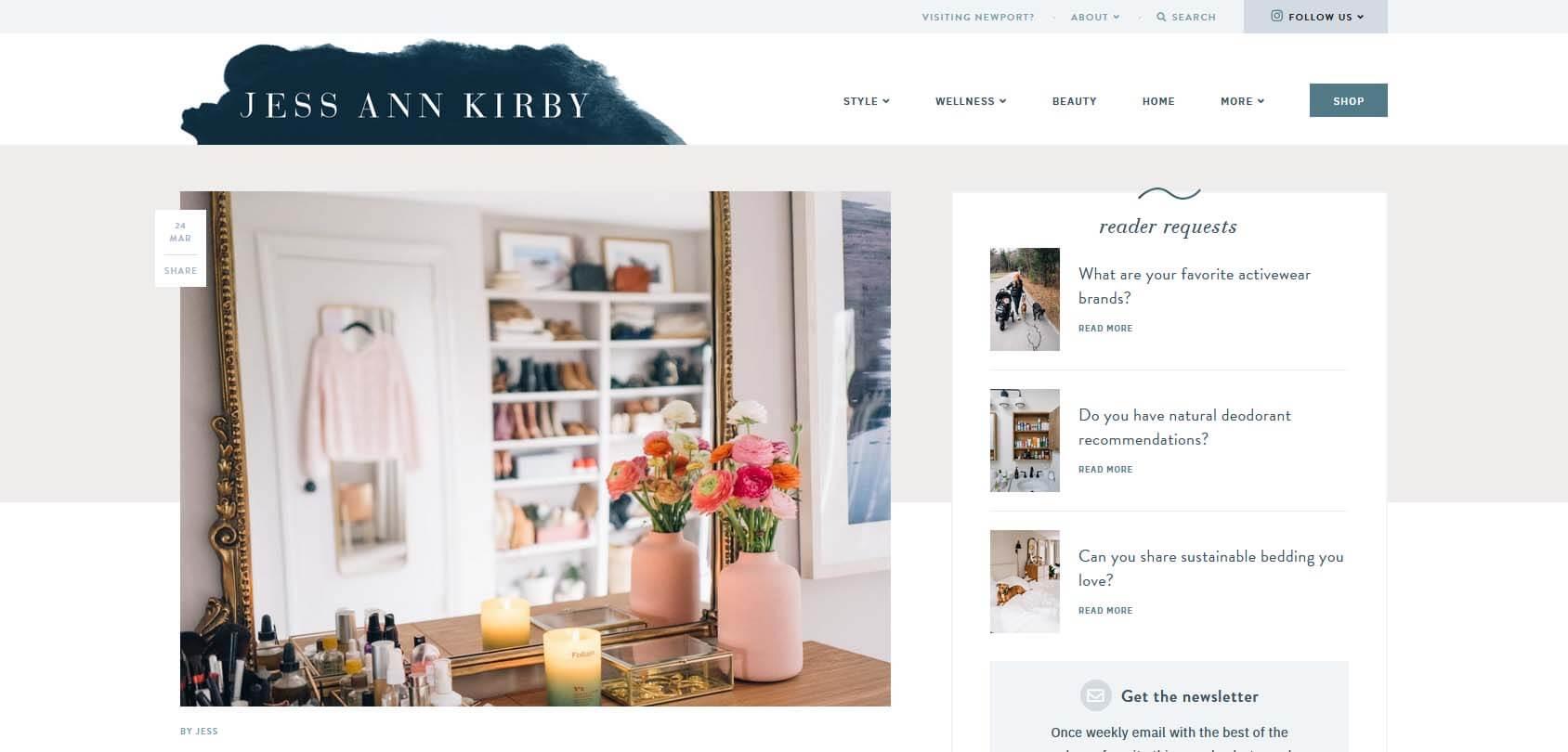 Jess Ann Kirby Homepage