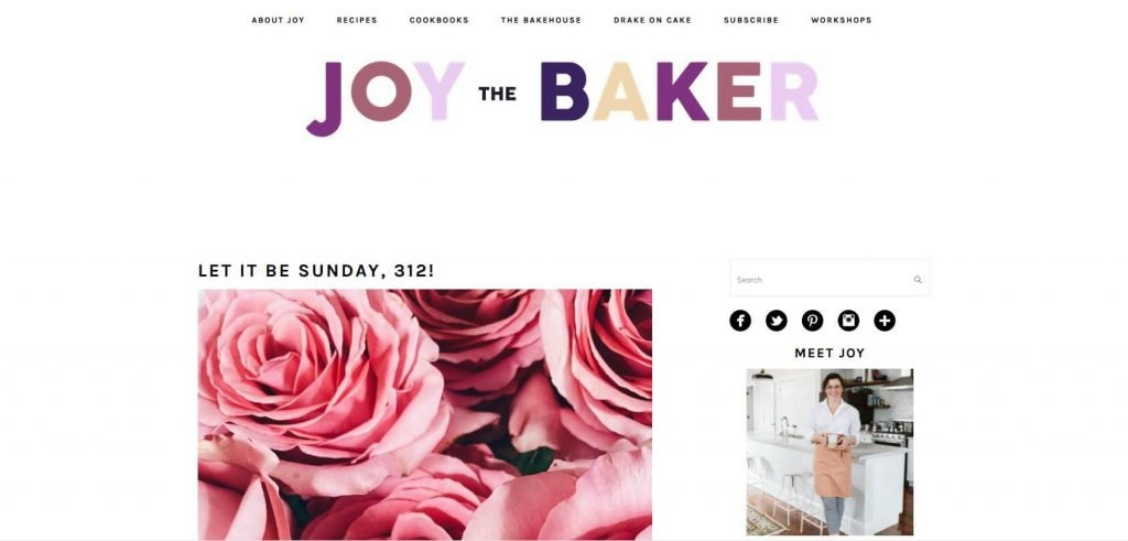 Joy the Baker Homepage