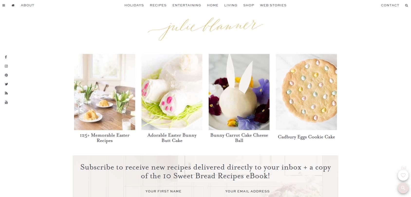 Julie Blanner Homepage
