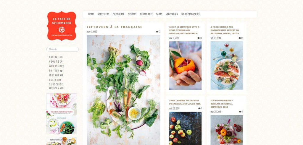 La Tartine Gourmande Homepage