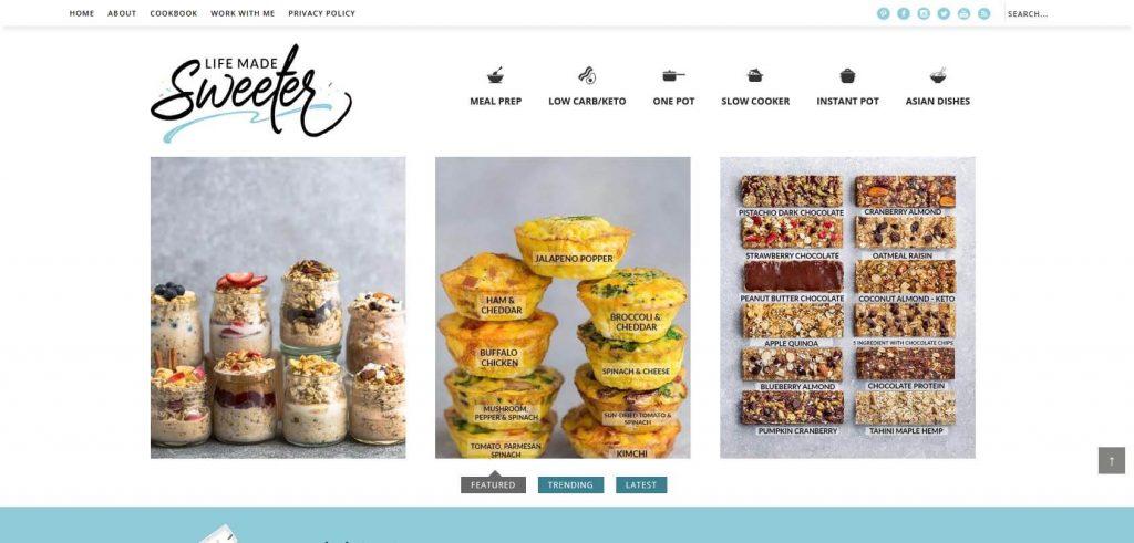 Life Made Sweeter Homepage
