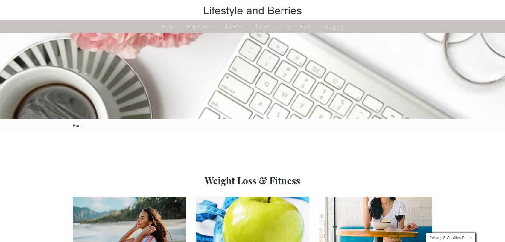 Lifestyle and Berries Homepage