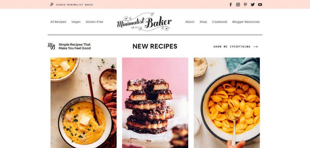 Minimalist Baker Homepage