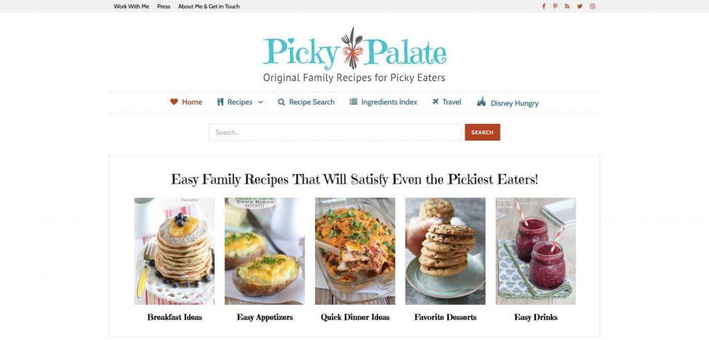 Picky Palate Homepage