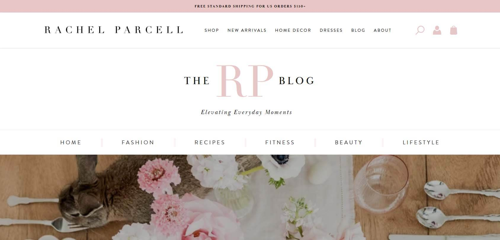 Rachel Parcell Homepage