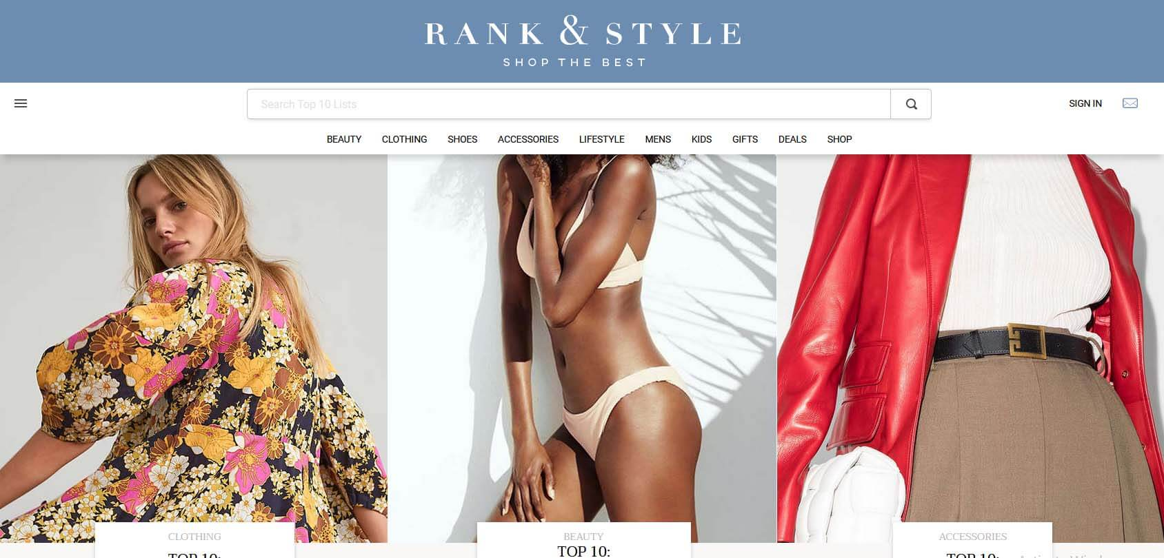 Rank & Style Homepage