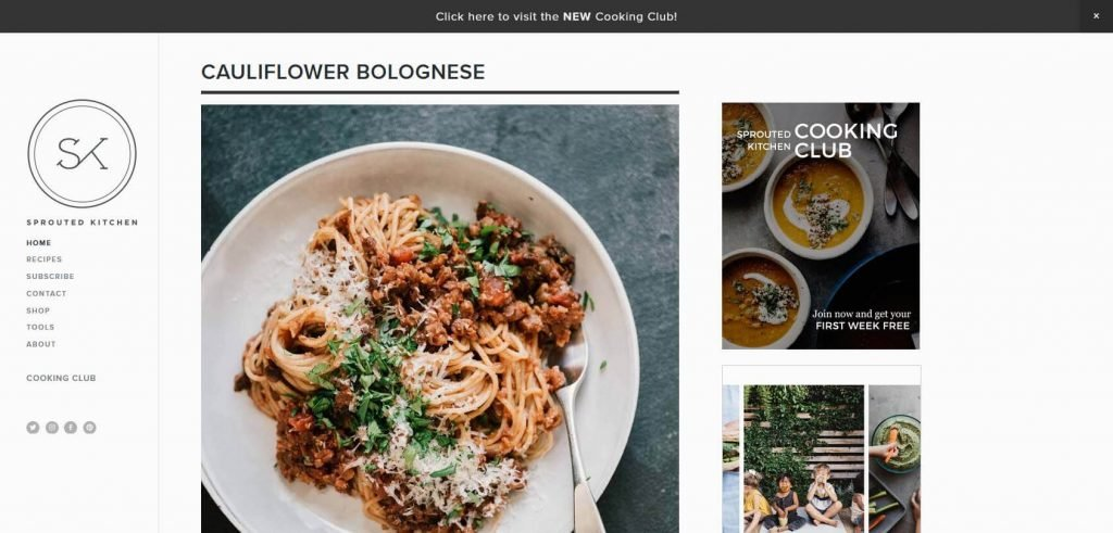 Sprouted Kitchen Homepage