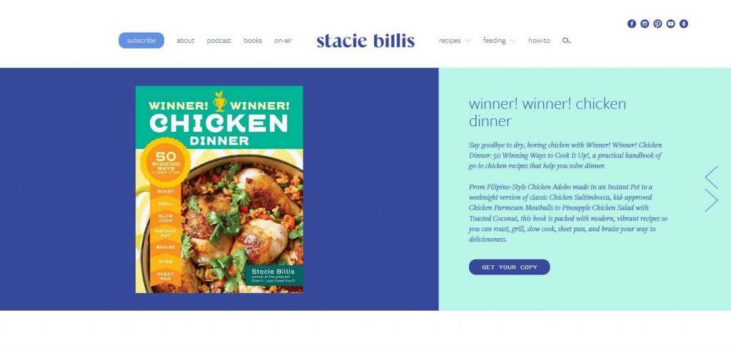 Stacie Billis Homepage