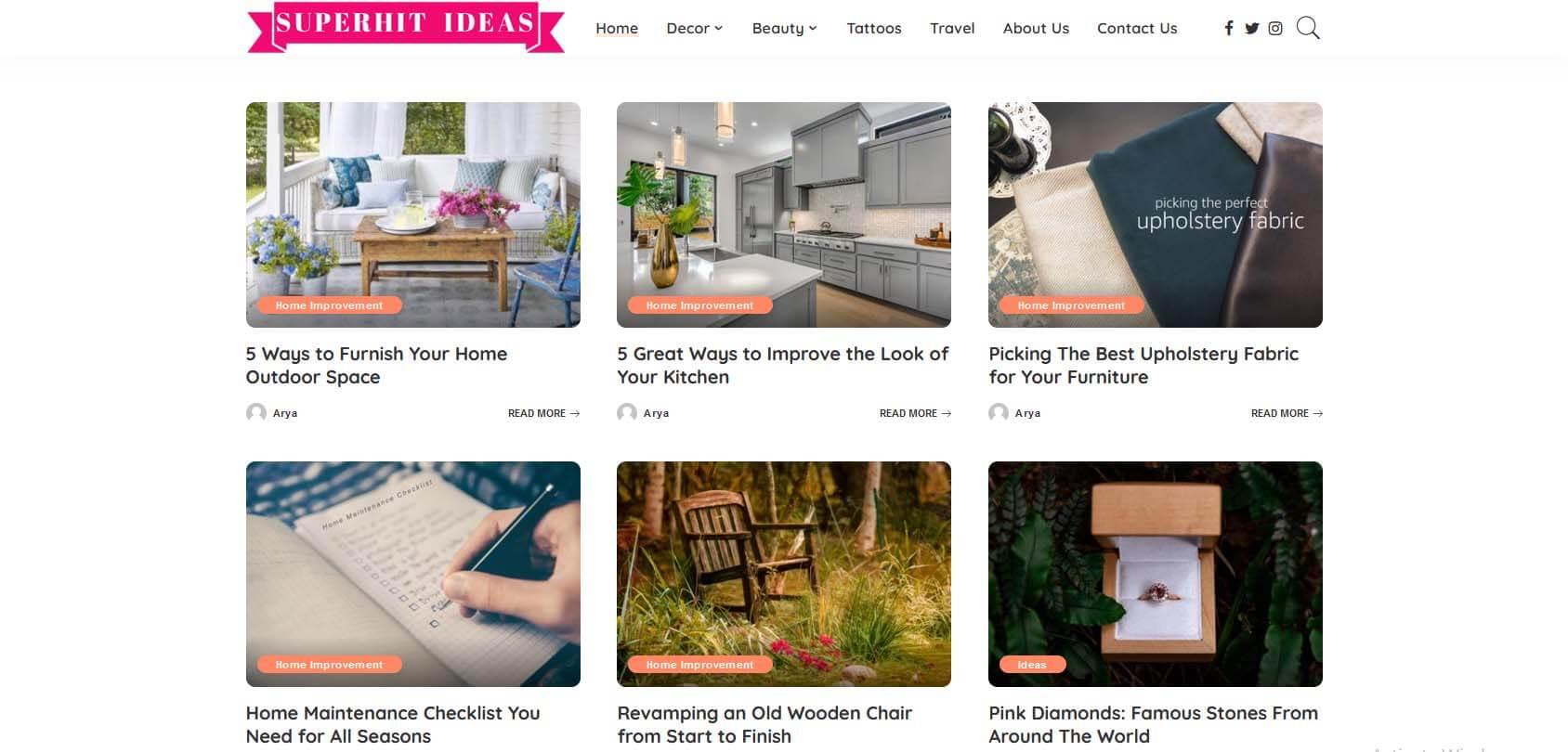 Superhit Ideas Homepage