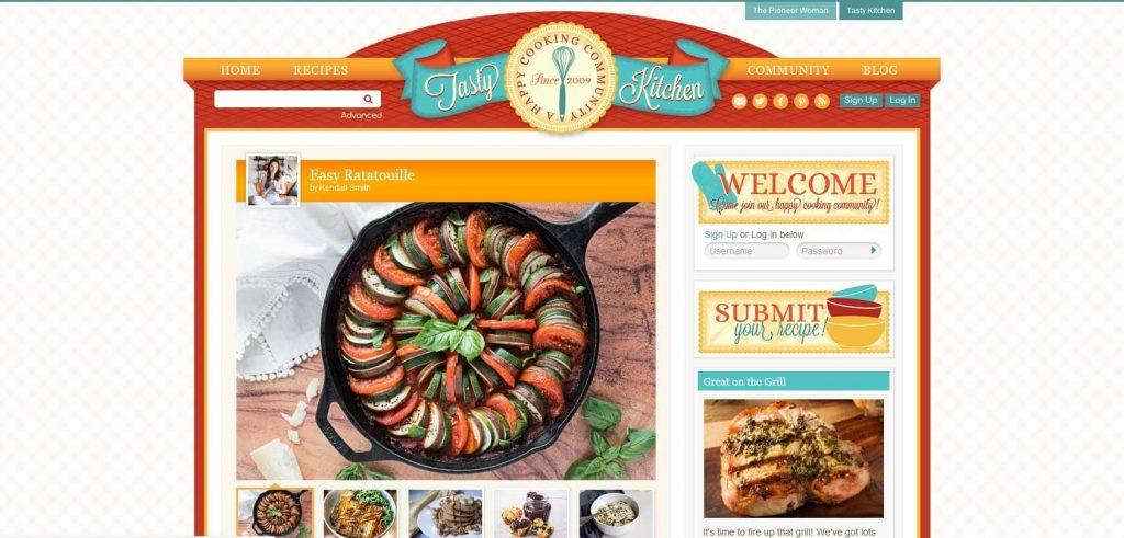Tasty Kitchen Homepage