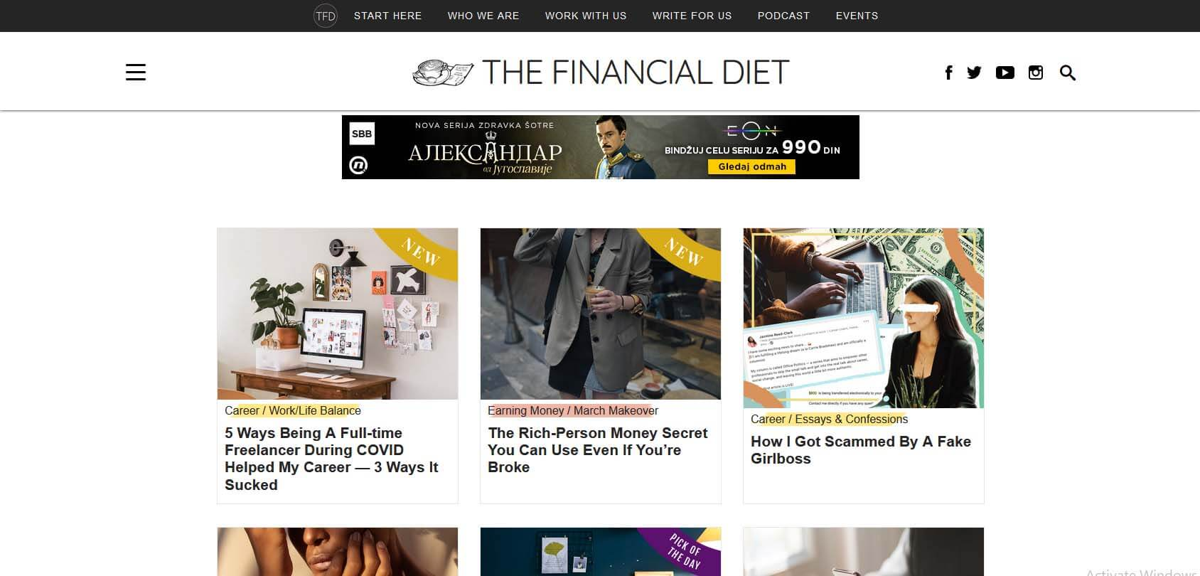 The Financial Diet Homepage