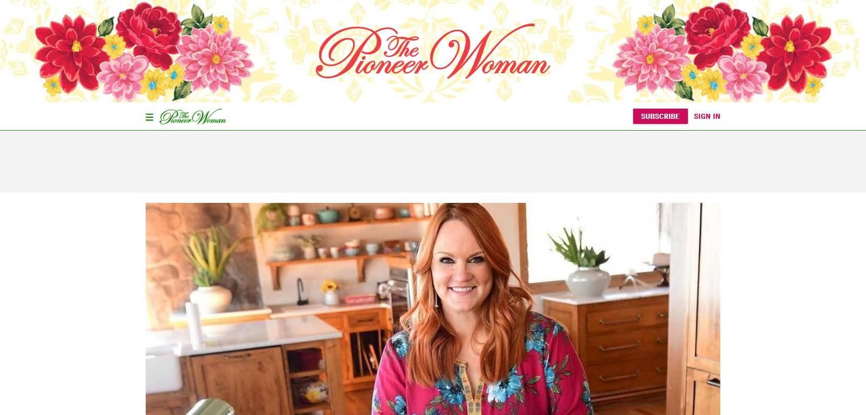 The Pioneer Woman Homepage