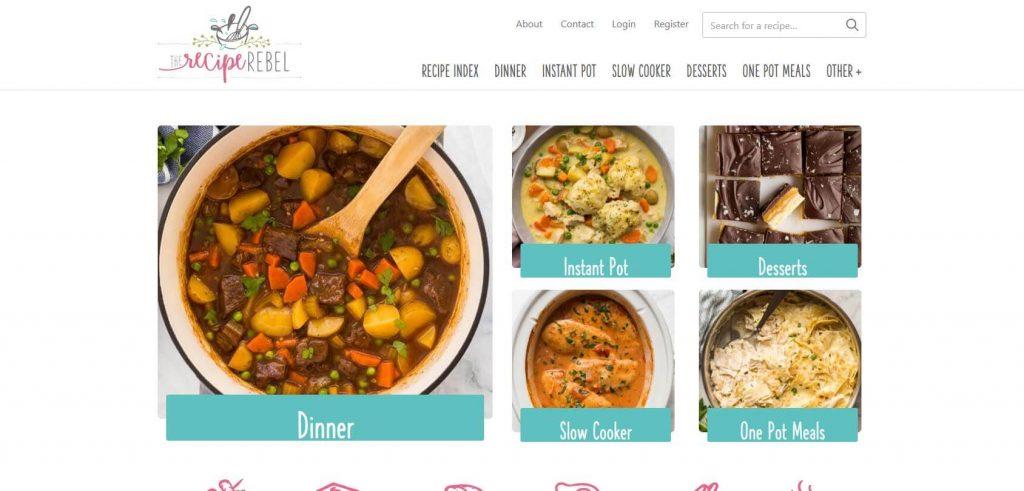 The Recipe Rebel Homepage