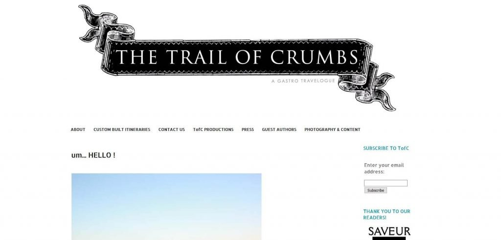 The Trail of Crumbs Homepage