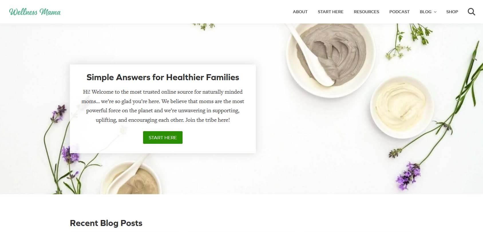 Wellness Mama Homepage