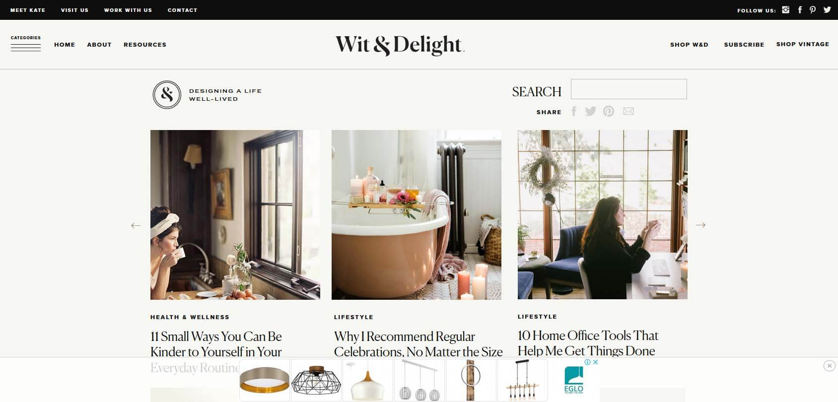 Wit & Delight Homepage
