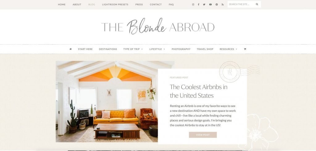 blonde abroad homepage