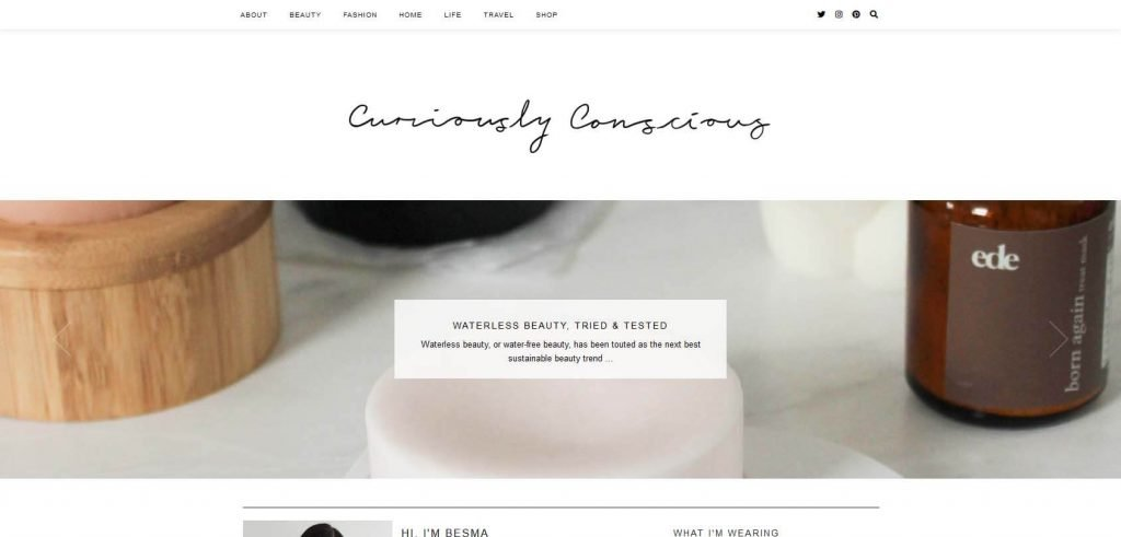 Curiously Conscious Homepage