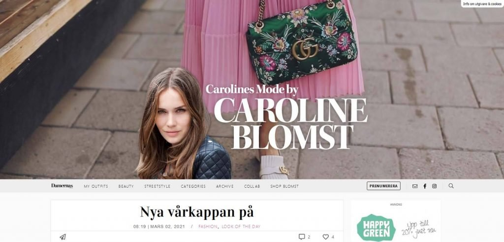 Carolines Mode Homepage