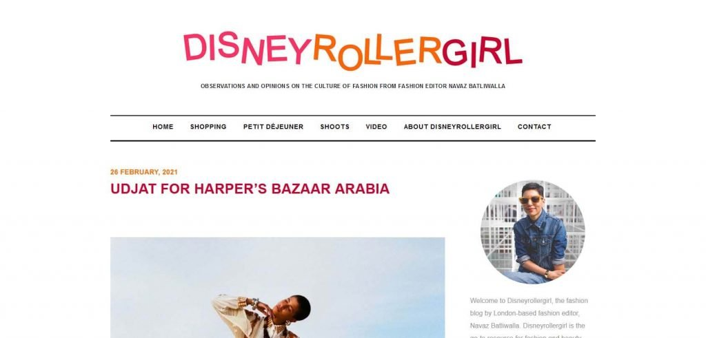 Disney Roller Girl Homepage