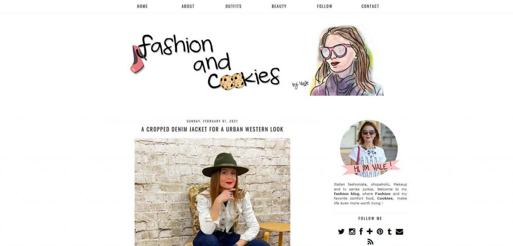 Fashion and Cookies Homepage